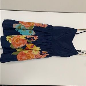 Navy floral dress by love....ady